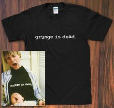 5a58b1f031b Grunge is Dead T-Shirt worn by Kurt Cobain - Nirvana shirt dave grohl krist  novoselic band logo grunge rock vintage S M L XL new