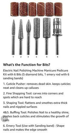 Acrylic Nail Drill, Acrylic Nails At Home, Acrylic Nail Tips, Polygel Nails, Diy Nails, Nail Nail, Privates Nagelstudio, Nail Tech School, Arylic Nails