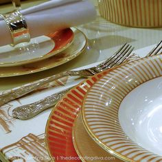 Wedgewood Fine China Dinnerware Palladian Collection in Orange, White and Gold
