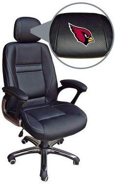 Arizona Cardinals Leather Office Chair Head Coach Chair