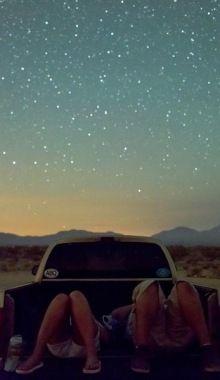 Summer night star gazing