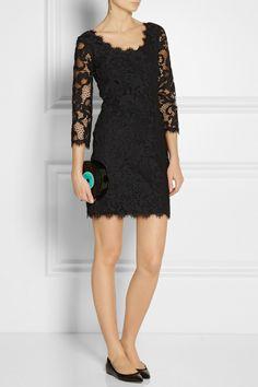 Diane von Furstenberg|Zarita lace mini dress|NET-A-PORTER.COM