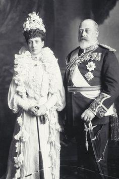King Edward VII, son of Queen Victoria, and his long suffering wife, Queen Alexandra, formerly Princess Alexandra of Schlewsig-Holstein-Sandburg-Glucksburg (Denmark)