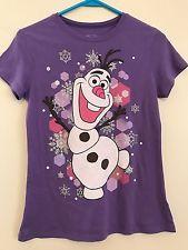 Girls Frozen Short Sleeve T-shirt Top Size XL
