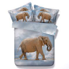 3D Elephant Comforter sets Bedding quilt doona duvet cover bedspread bed sheet bedset for adults Super King Queen size twin 5PCS