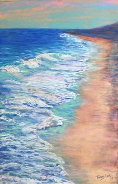 Marching Surf by Tammy Cox Pastel ~ 14 x 10