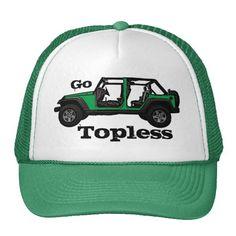 Go Topless green Jeep four door hat