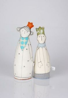 adorable dolls - made from child's drawing. so cute!