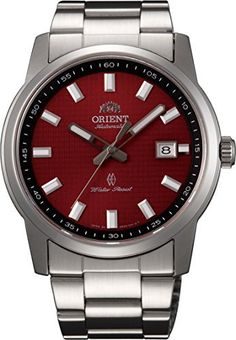 Men's Wrist Watches - Orient FER23003H Mens Surveyor Stainless Steel Red Dial Automatic Watch * Check this awesome product by going to the link at the image.