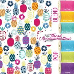 """www.thirty-one.com/eriale  Embroidery &Personalization Thread Choices for the new """"Lotta Coloda"""" thread colors"""