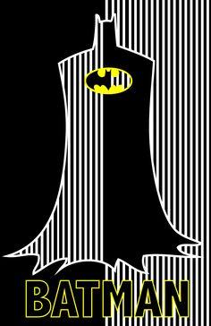 Retro batman graphic. Designed it in college