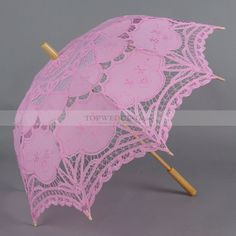 Pink Embroidered Cotton Wedding Umbrella Fancy Umbrella, Umbrella Wedding, Sun Umbrella, Wedding Umbrellas, Diy Wedding Reception, Wedding Gowns, Pink Cadillac, Wedding Accessories, At Least