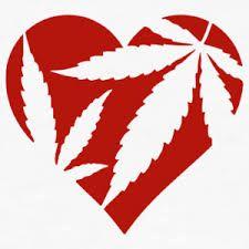 Resultado de imagen de corazon de marihuana