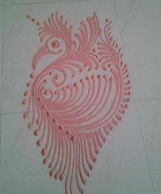 Peacock Rangoli Designs for Kids