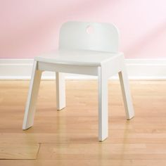 Mojo Chair (White)  | The Land of Nod For the boys, so bottom library shelves can be more of a desk for them