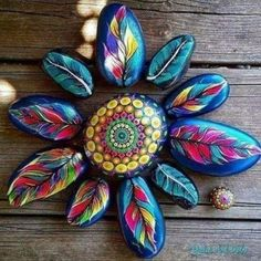 Rock Painting Patterns, Rock Painting Ideas Easy, Rock Painting Designs, Paint Designs, Paint Ideas, Pebble Painting, Dot Painting, Pebble Art, Stone Painting