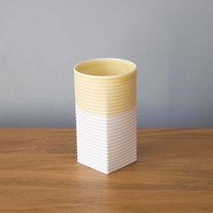 Sarah Backler : High Tea Ceramic Cups - Yellow/White