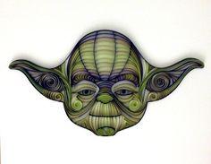 Quilling artQuilled Yoda de Star Wars