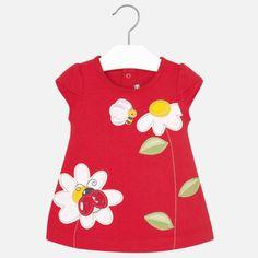 8701ff9a74c9 Dievčenské šaty s nášivkou Mayoral - Red Letné Šaty