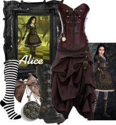 Alice Madness Returns: Steampunk I want it all! Steampunk Cosplay, Steampunk Clothing, Steampunk Fashion, Steampunk Diy, Casual Cosplay, Cosplay Outfits, Alice Madness, Character Inspired Outfits, Steampunk Wedding