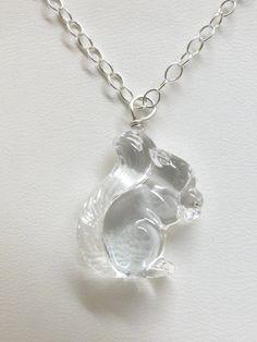 Vintage Swarovski crystal  Squirrel by JewelryOnVintageLane