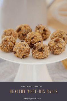 These Healthy Weet-Bix Balls with medjool dates, honey, coconut, chia seeds and sultanas are super easy to make and take only 10 minutes to prepare. A couple of weeks ago, I shared my recipe for Healthy Muffins, Healthy Treats, Healthy Kids, Healthy Biscuits, Healthy Appetizers, Healthy Food, Healthy Eating, Lunch Box Recipes, Easy Dinner Recipes