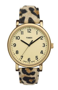i need to stop looking at nordstrom.com...i need this watch too. #leopard