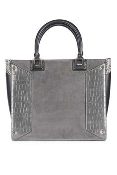 eca24e0f9d58 Make your handbag the core accessory of your outfit with this grey formal tote  bag with