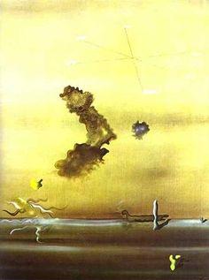 "surrealismart: ""Outside, 1929 Yves Tanguy "" Magritte, Yves Tanguy, Miro, Portraits, Glitch Art, Art Database, Salvador Dali, Surreal Art, All Art"