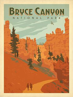 Bryce Canyon National Park: Queen's Garden - Decorate your walls with a sense of classic American adventure. This print celebrates our heritage of wilderness and wonder with a view of the Queen's Garden Trail in Bryce Canyon National Park.