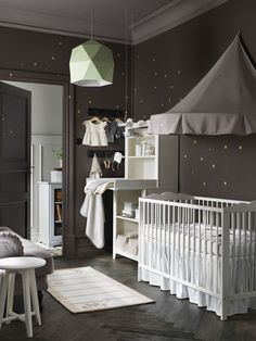 IKEA Catalog 2016 I don't have any babies - yet. But I love this color scheme for a nursery. Baby Bedroom, Baby Boy Rooms, Baby Boy Nurseries, Baby Cribs, Nursery Room, Kids Bedroom, Ikea Baby Room, Ikea Nursery, Nursery Themes