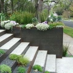 Modern Landscape Outdoor Stairs Design, Pictures, Remodel, Decor and Ideas - page 2 #ModernLandscaping