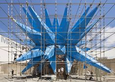 Here are the first official photographs of Wendy, the giant blue spiky air-cleaning sculpture that has been installed in the courtyard of the P.S.1 Contemporary Art Centre in New York