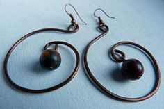 Simple Wire Earrings: Simple Wire Earrings Instructions: Make these beautiful wire earrings using a few tools and simple jewelry making techniques.  Visitor Rodi submitted a