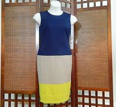 #Jones #New #York #Color Block SHEATH #Dress NWT FREE SHIPPING TO USA 12 14 16 $129 Now 58.99 54% savings #blacktwitter #womenover50