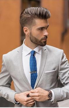 Suit Style Men Wedding Ideas In 2019 Formal Hairstyles Men - hairstyles for men wedding hairstyles for men indian Formal Hairstyles Men, Cute Wedding Hairstyles, Mens Hairstyles Fade, Cool Short Hairstyles, Hairstyles Haircuts, Haircuts For Men, Korean Hairstyles, Hairstyles Videos, Groom Hair Styles