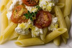 Roasted Tomatoes and Fresh Ricotta Ingredients 1 pint cherry tomatoes ...