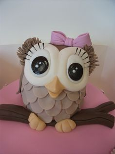 adorable Owl cake topper