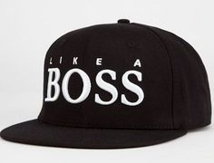 "The Boss Snapback Hat by REASON will have you feeling exactly like a BOSS. Am I the only that immediately thinks of Rick Ross when they hear ""BOSS""? Dope Hats, Flat Bill Hats, Types Of Hats, Diamond Supply Co, Grunge, Hipster, Snap Backs, Snapback Cap, Headgear"