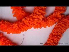 Guirnalda de flores de cempasuchil hechas con papel crepé para el Día de Muertos - YouTube