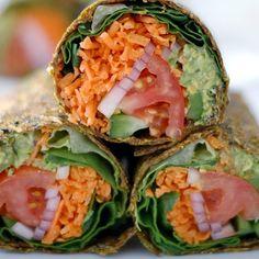 From theglobalgirl - New #recipe on the blog: #rawvegan #glutenfree guacamole wraps ~ getting my avocado fix