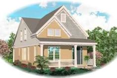 Exterior - Front Elevation Plan #81-678 - Houseplans.com