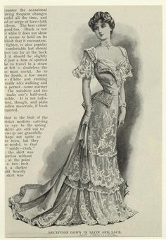 1902 reception gown vintage fashion plate
