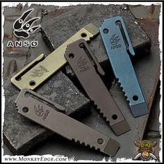 The Anso Knives - Prybar 12 -- is a flat tool that can be carried like a pen for when you need a little leverage. No need to tear up your expensive knives. Handy pocket clip. Rear side for a Danish bottle opener.