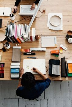 INSPIRATION EPISODE 02 : TOP VIEW OPEN OFFICE DESK SETUP ITCHBAN.COM