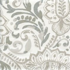 This is a gray and white paisley floral cotton drapery fabric by Premier Prints Fabrics, suitable for any dcor. Perfect for pillows, drapes and bedding.v114IFR