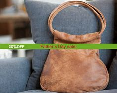 Sale!!! BROWN Leather tote bag, brown leather bag, premium distressed leather hobo bag,  leather bag, Handmade by Limor Galili by limorgalili. Explore more products on http://limorgalili.etsy.com