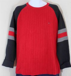 Tommy Hilfiger Men's Ribbed Sweater Large
