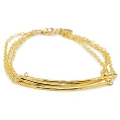 "gorjana ""Taner"" Three Bar Bracelet Gold-Tone Layered"