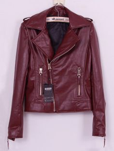 SheIn offers Wine Red Lapel Long Sleeve Zipper PU Leather Coat & more to fit your fashionable needs. Estilo Fashion, Ideias Fashion, Fashion Edgy, Fashion 2018, Mens Fashion, Blazers, Athleisure Outfits, Swagg, Autumn Winter Fashion